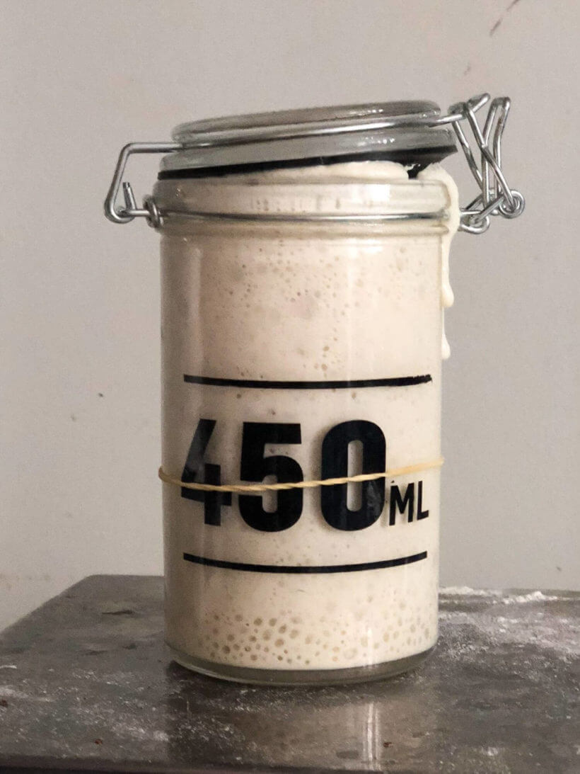 Follow this sourdough starter recipe and get a very active and healthy starter