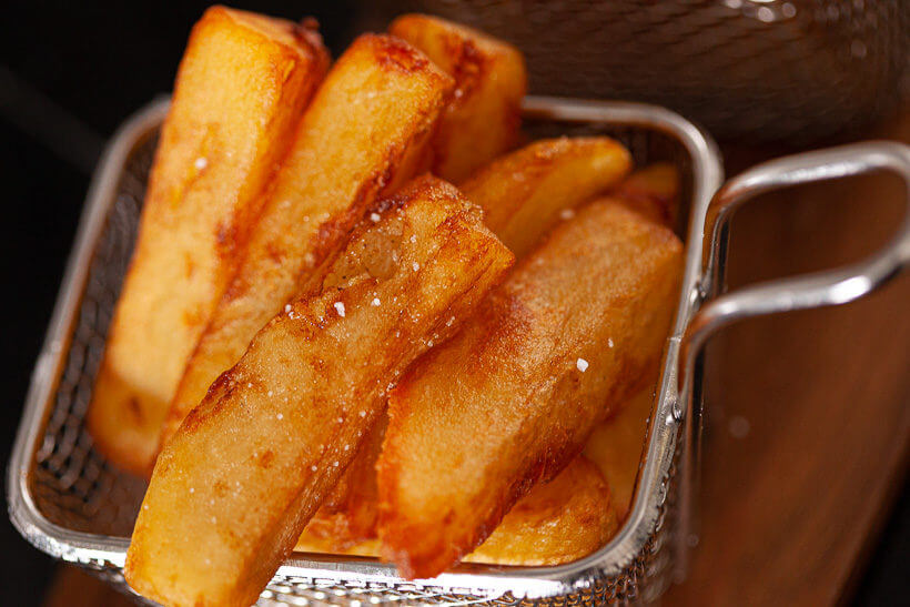 Earth shatteringly crispy triple cooked chips recipe