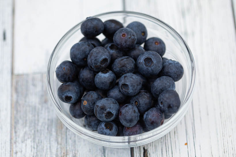 fresh blueberries that will be used in this blueberry lemon sourdough bread recipe