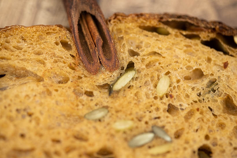 The crumb with the cinnamon stalk